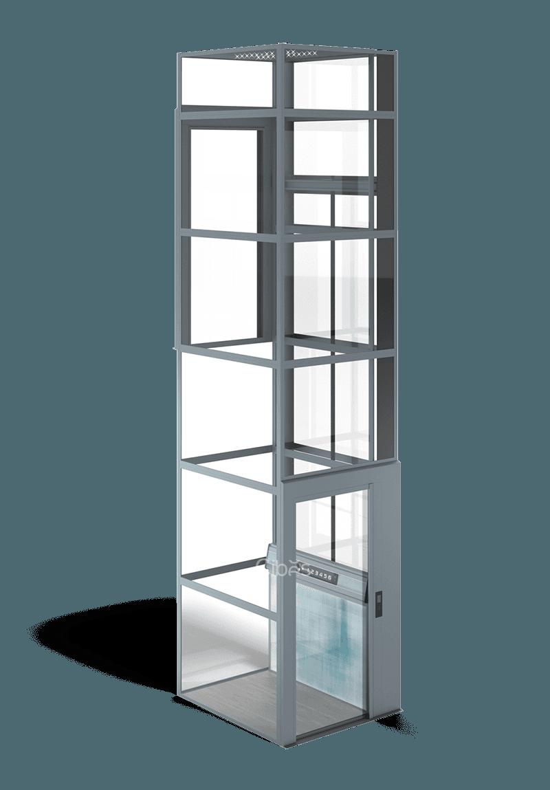 私人定制,多彩背景墙家用电梯