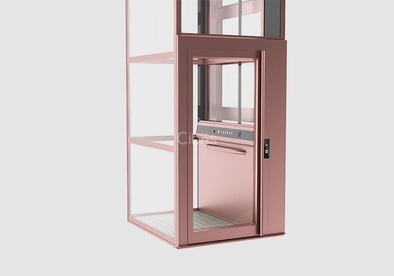 纯净北欧风家用电梯 玫瑰色款