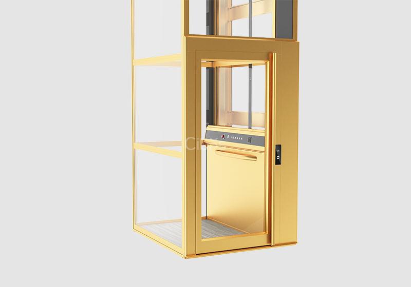 纯净北欧风家用电梯 金色款