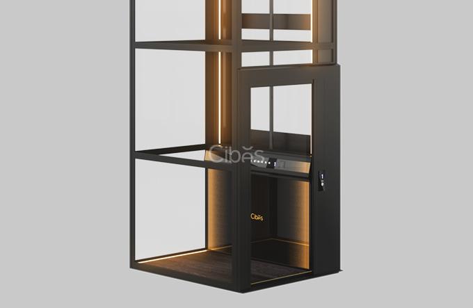 光影随行,炫酷型别墅电梯