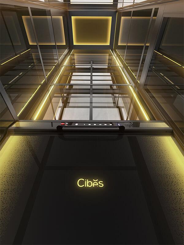 光影随行,炫酷型别墅电梯灯光效果