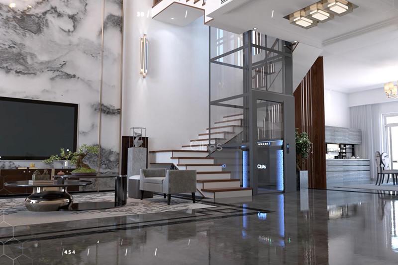 舒适与科技感并存的别墅电梯尺寸