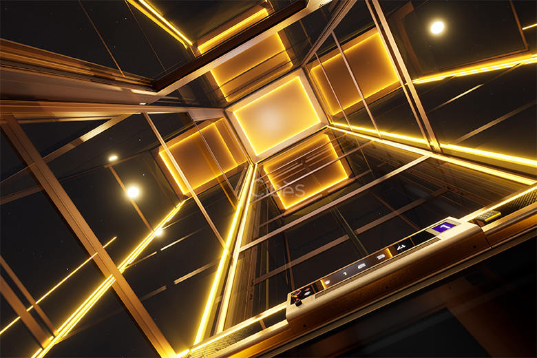 舒适与科技感并存的别墅电梯一体化RGBW灯光
