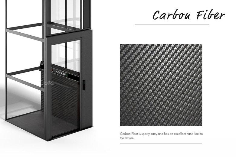限量生产,尊享定制别墅电梯仿真碳纤维系列