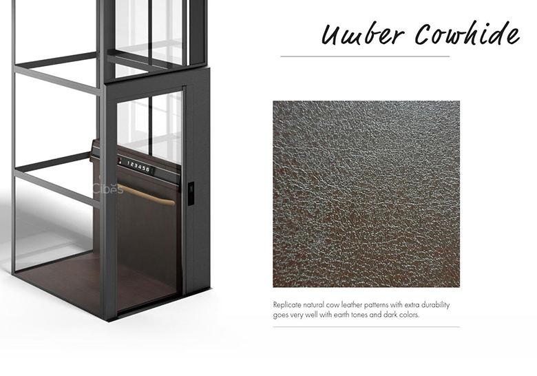 限量生产,尊享定制别墅电梯深色仿真木纹系列