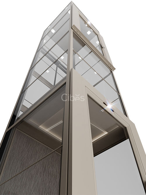 v90经济型定制轿厢款别墅电梯