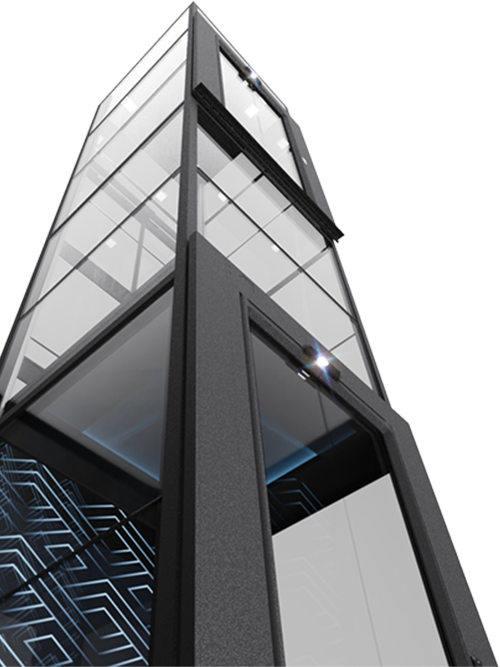 v90自带一体化井道豪华版轿厢电梯