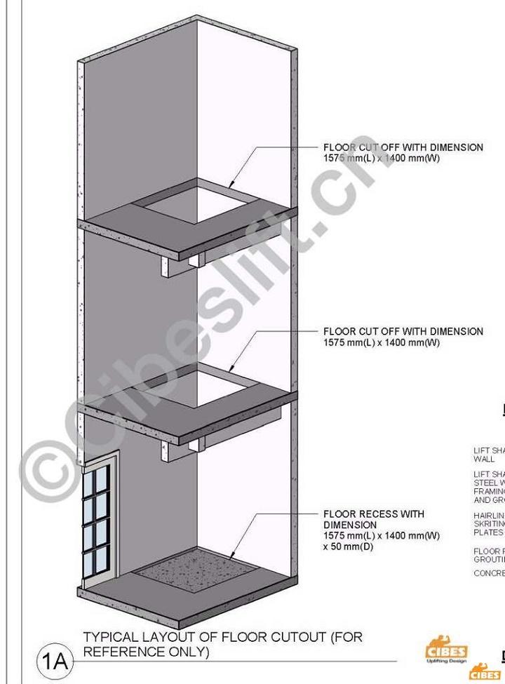 现如今瑞典cibes无底坑无机房设计的新型家用电梯