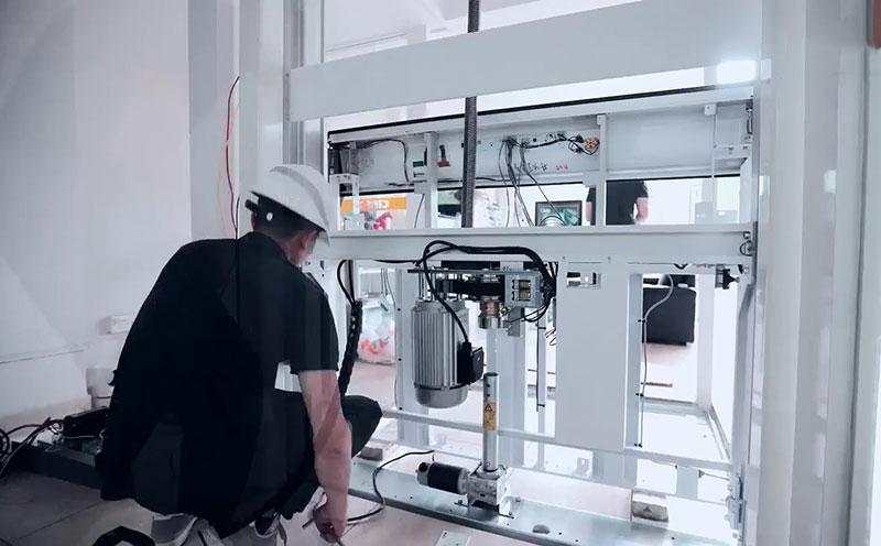 Cibes无底坑电梯安装视频